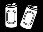 缶ジュースの白黒イラスト02