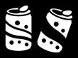 缶ジュースの白黒イラスト03