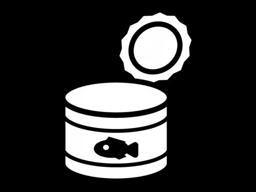 空の缶詰の白黒イラスト02