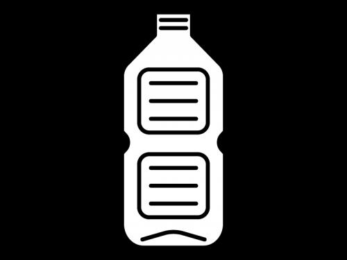 空のペットボトルの白黒イラスト