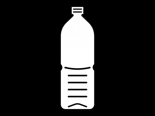 空のペットボトルの白黒イラスト02