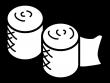 包帯の白黒イラスト