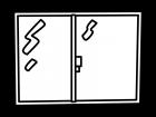 窓の白黒イラスト