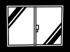 窓の白黒イラスト02