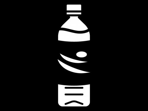 ペットボトルのジュースの白黒イラスト