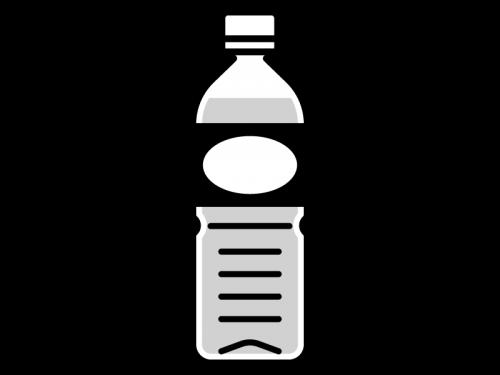 ペットボトルのジュースの白黒イラスト02