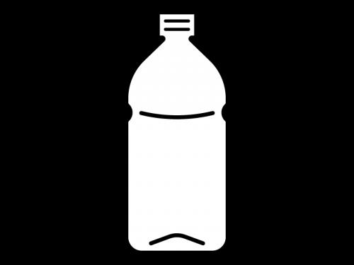 空のペットボトルの白黒イラスト03