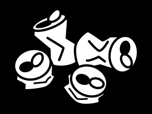 空き缶の白黒イラスト02