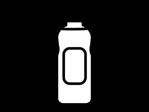 掃除用洗剤の白黒イラスト