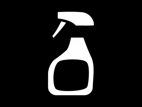 掃除・除菌スプレーの白黒イラスト
