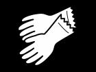 ゴム手袋の白黒イラスト02