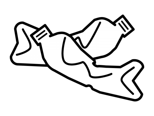 潰れたペットボトルの白黒イラスト02