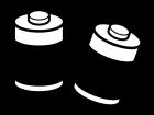 乾電池(単一)の白黒イラスト