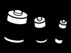 乾電池の白黒イラスト