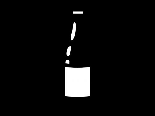 一升瓶の白黒イラスト