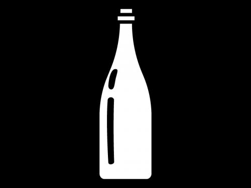 空の一升瓶の白黒イラスト