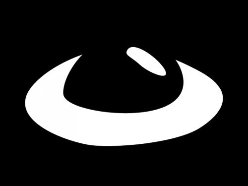 卵の白黒イラスト