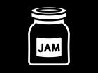 ジャムの白黒イラスト03