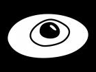 目玉焼きの白黒イラスト