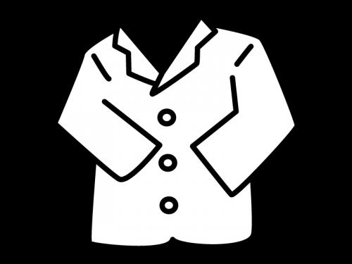 コート・ジャケットの白黒イラスト