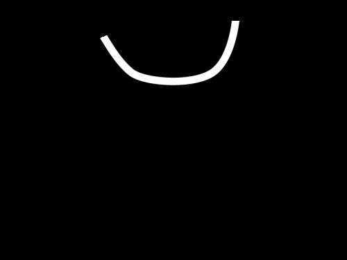 洋服・シャツの白黒イラスト