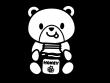 クマとハチミツの白黒イラスト02
