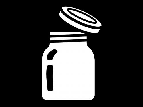 瓶の白黒イラスト