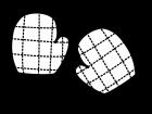 鍋つかみ・ミトンの白黒イラスト