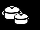鍋の白黒イラスト02