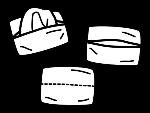 ポケットティッシュの白黒イラスト02