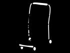 買い物カートの白黒イラスト