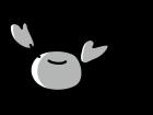 かわいいカニの白黒イラスト