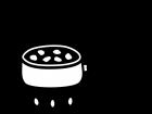 煮物やカレーの調理の白黒イラスト02