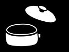 手鍋の白黒イラスト02
