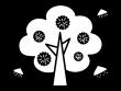 栗の木の白黒イラスト02